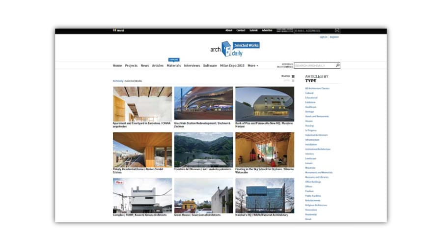 archdaily-projects The infinite architecture on web - Tons of pics, few stories