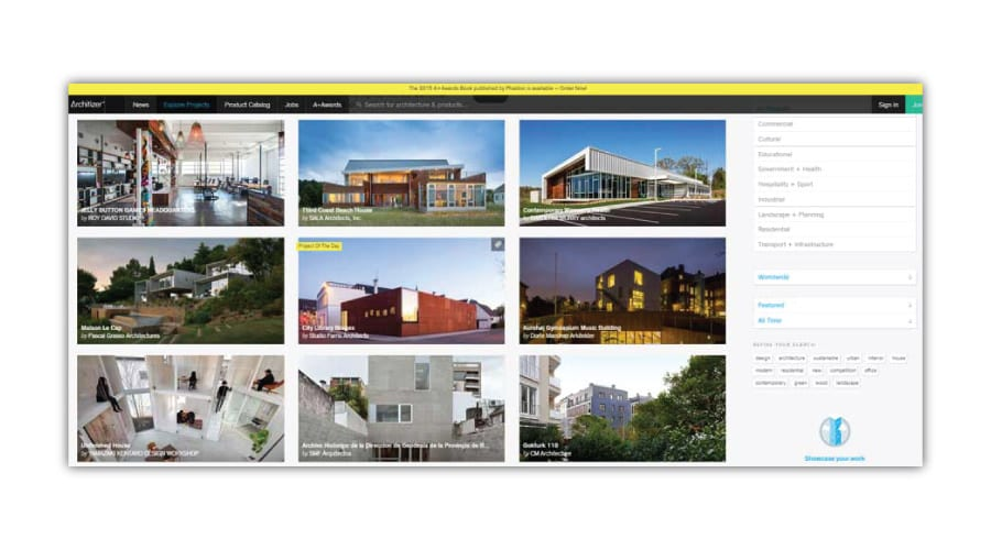 architizer-projects The infinite architecture on web - Tons of pics, few stories