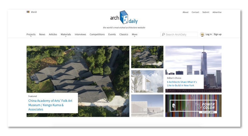 Archdaily Best Architecture Websites - The best list to keep informed