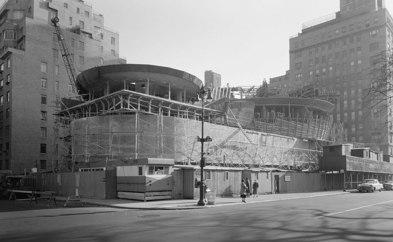 Guggenheim Museum ny construction site The Guggenheim Museum in New York | Frank Lloyd Wright