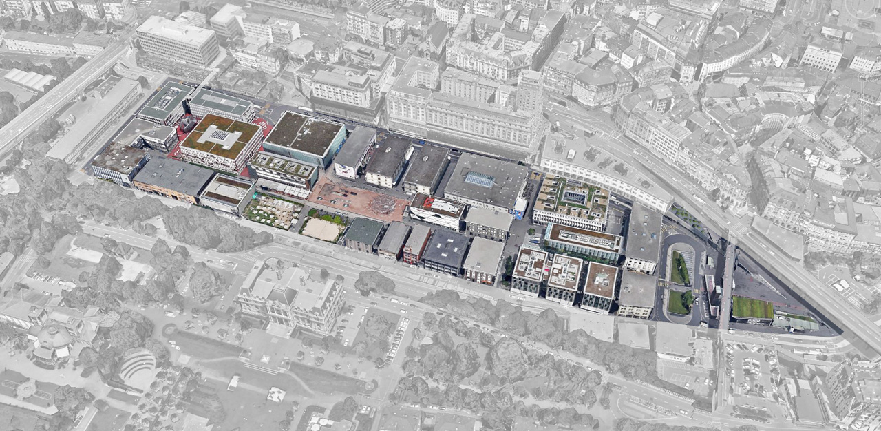 Flon district - @GoogleEarth  Le Flon district in Lausanne - A great example of urban regeneration