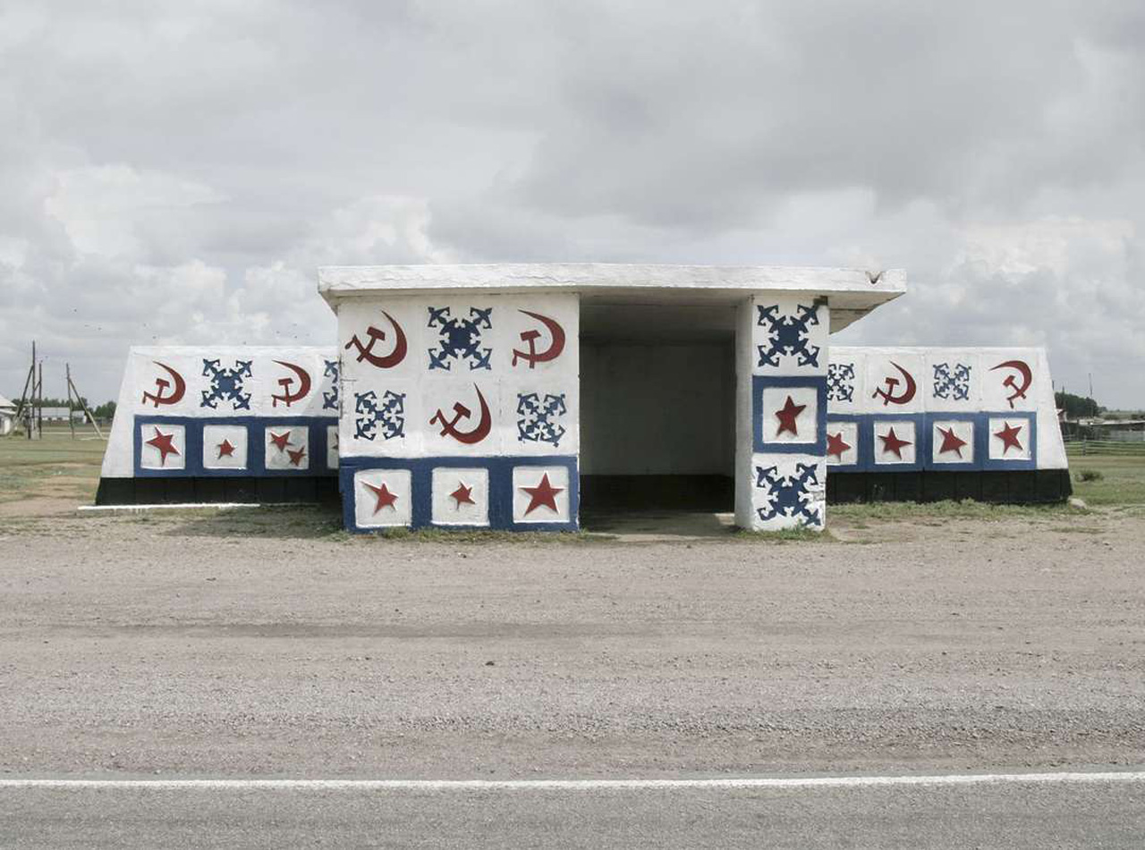 Soviet bus stop Soviet bus stop photographed by Christopher Herwig