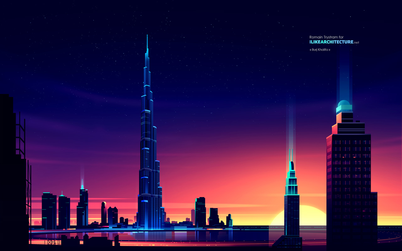 Famous landmarks wallpaper by romain trystram archiobjects for Famous structures in dubai