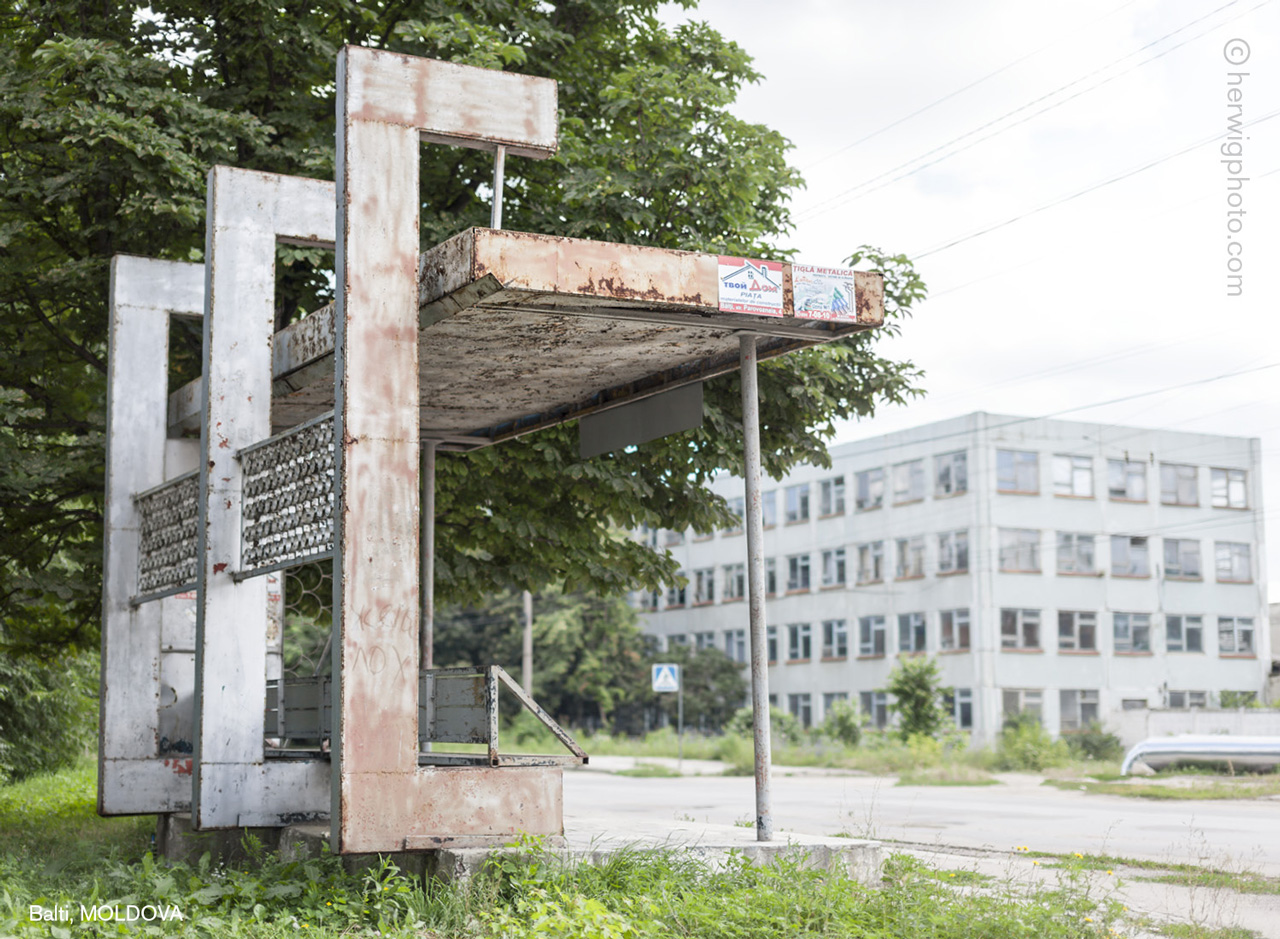 sovietbusstop Soviet bus stop photographed by Christopher Herwig