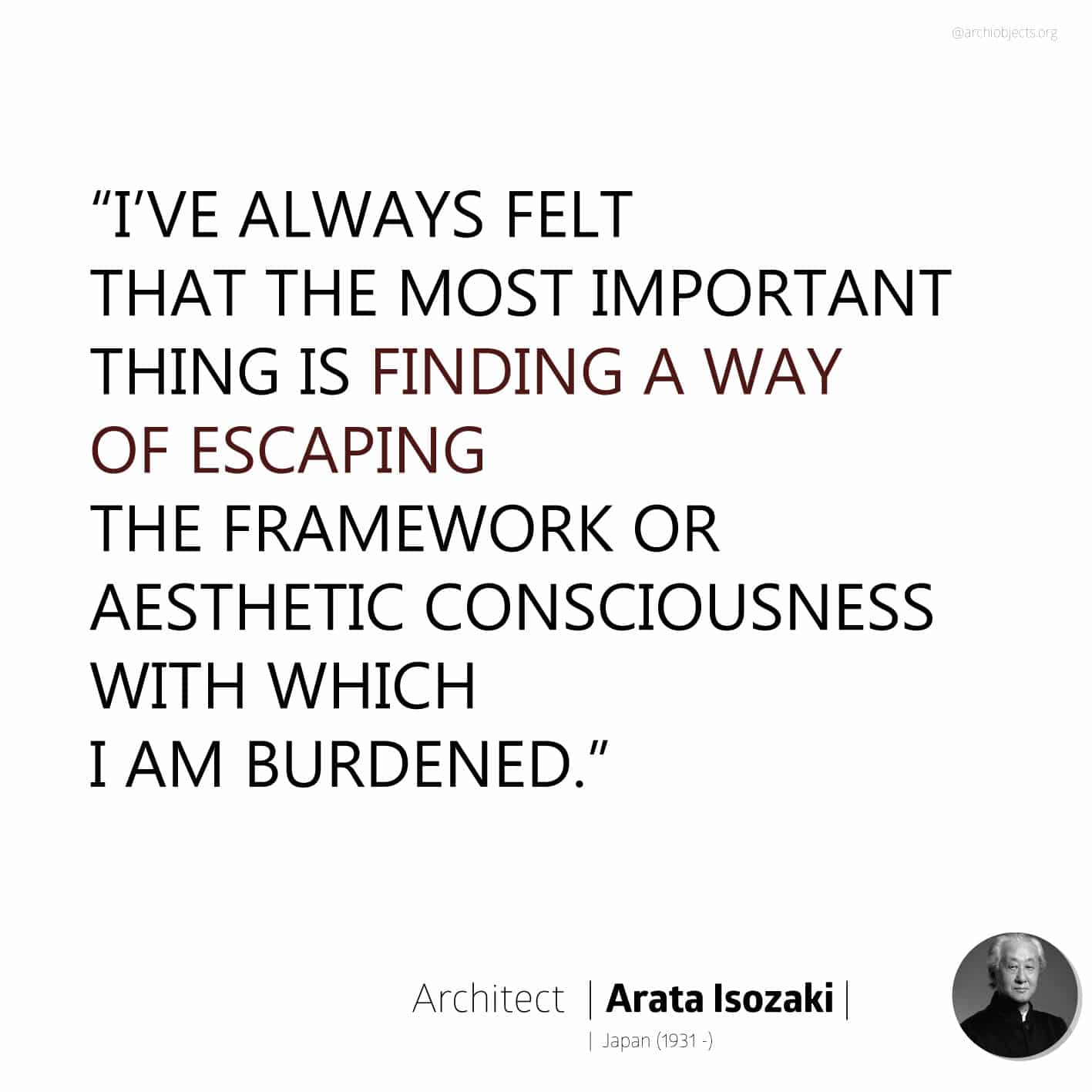 arata isozaki quote