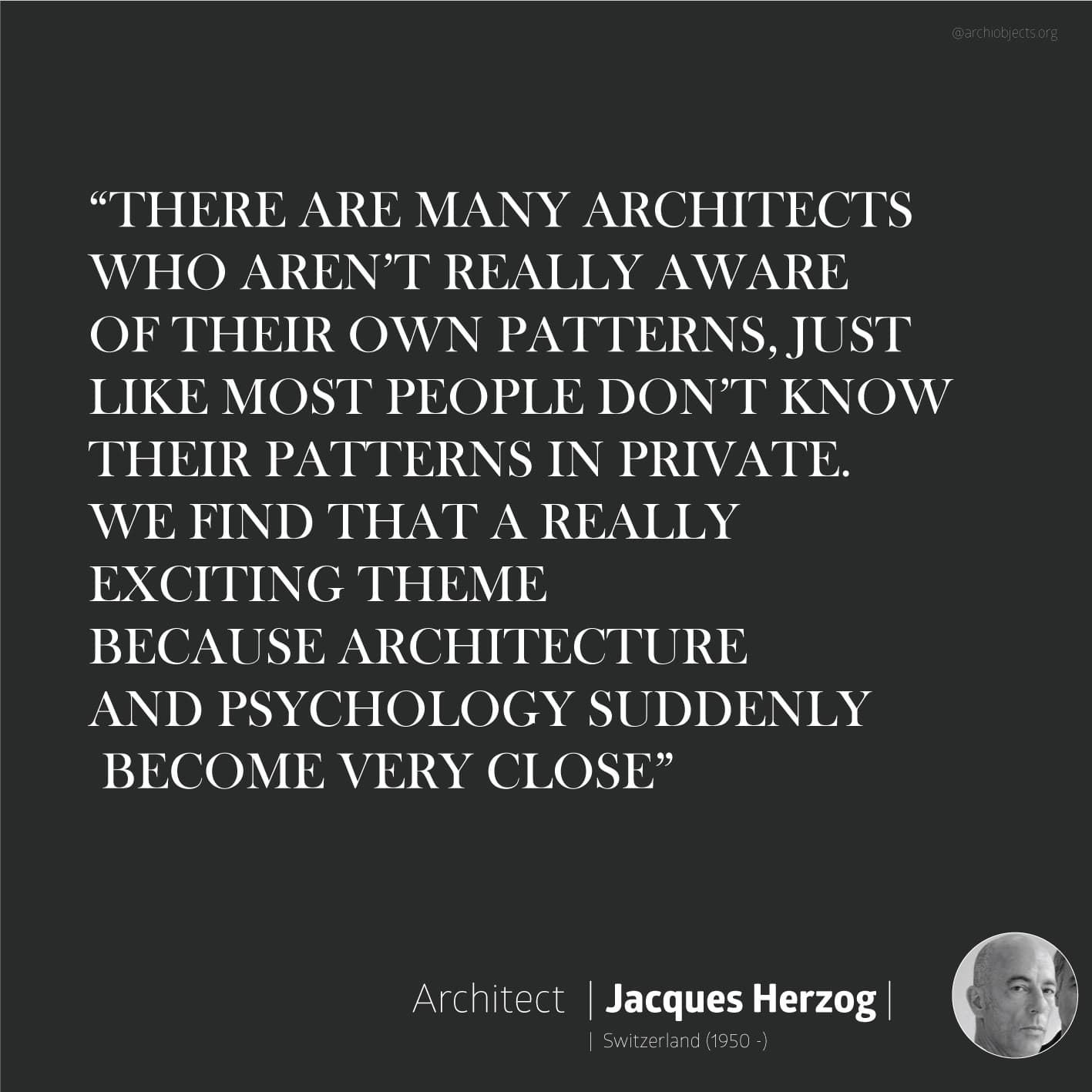 herzog quote Architectural Quotes - Worth spreading Architects' voice