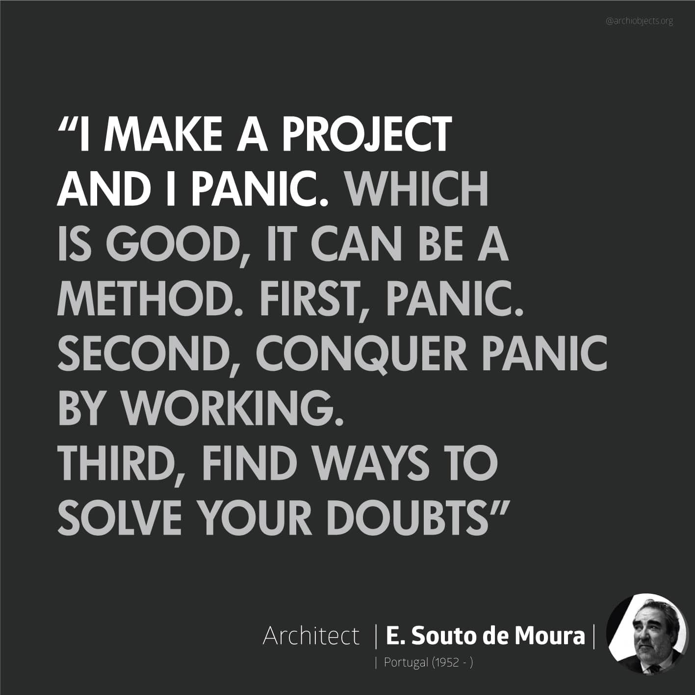 souto de moura quote Architectural Quotes - Worth spreading Architects' voice