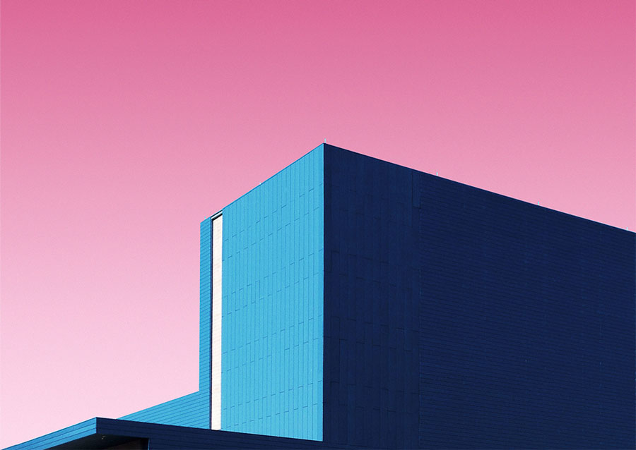 The candy colored minimalist photographer matt crump for Minimalist architecture photography