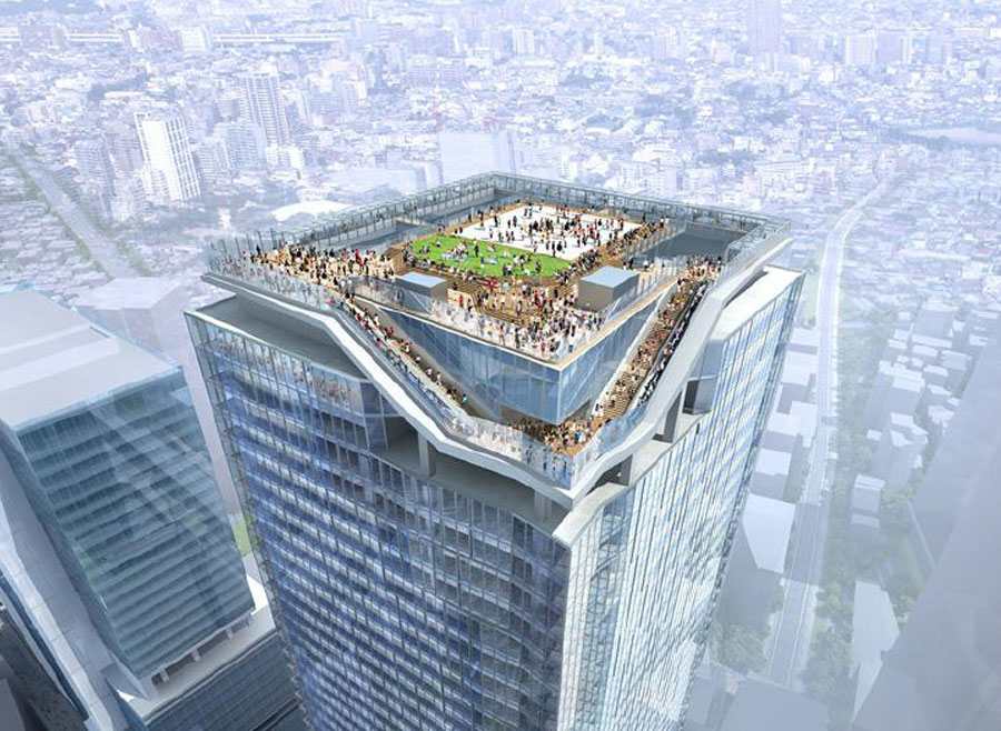 Plans For The New Observation Deck To Watch Shibuyas
