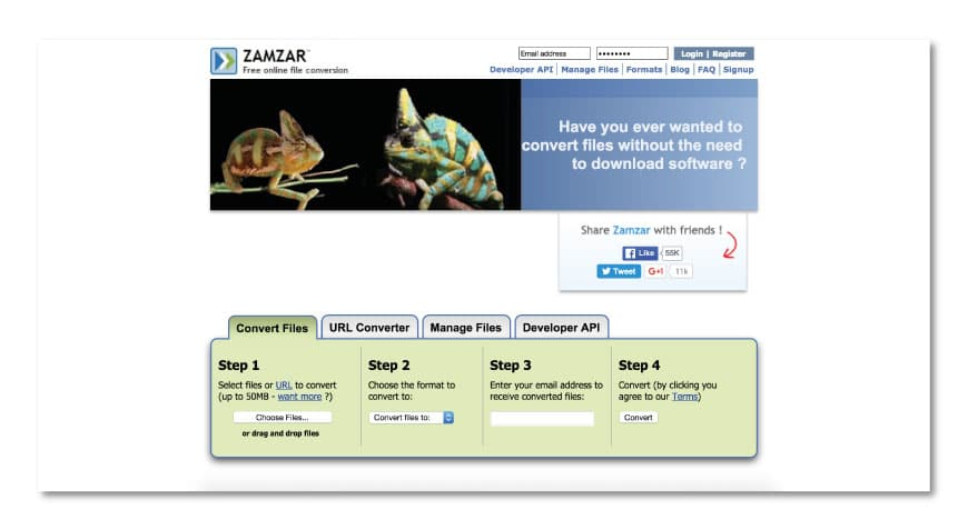 zamzar 30+ Online digital tools for Architects and Designers