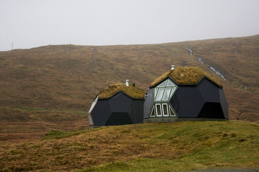 Domes-on-the-Faroe-Islands,-Denmark