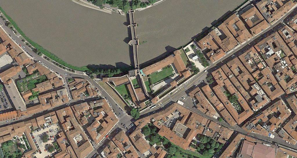 museum castelvecchio carlo scarpa Google Earth Architecture | Buildings aerial views in hd