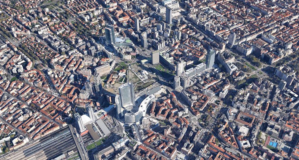 portanuova milano Google Earth Architecture | Buildings aerial views in hd