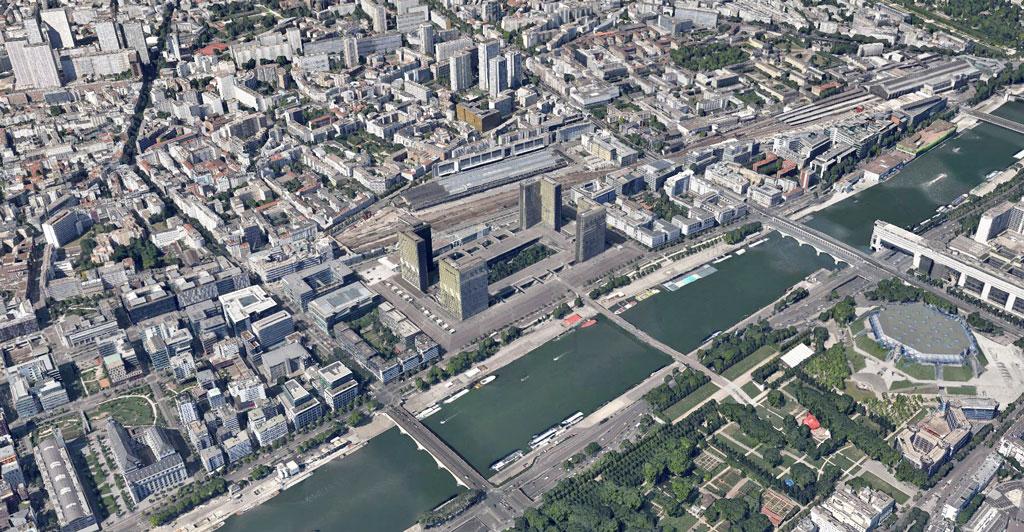 biblioteca nazionale di francia Google Earth Architecture | Buildings aerial views in hd
