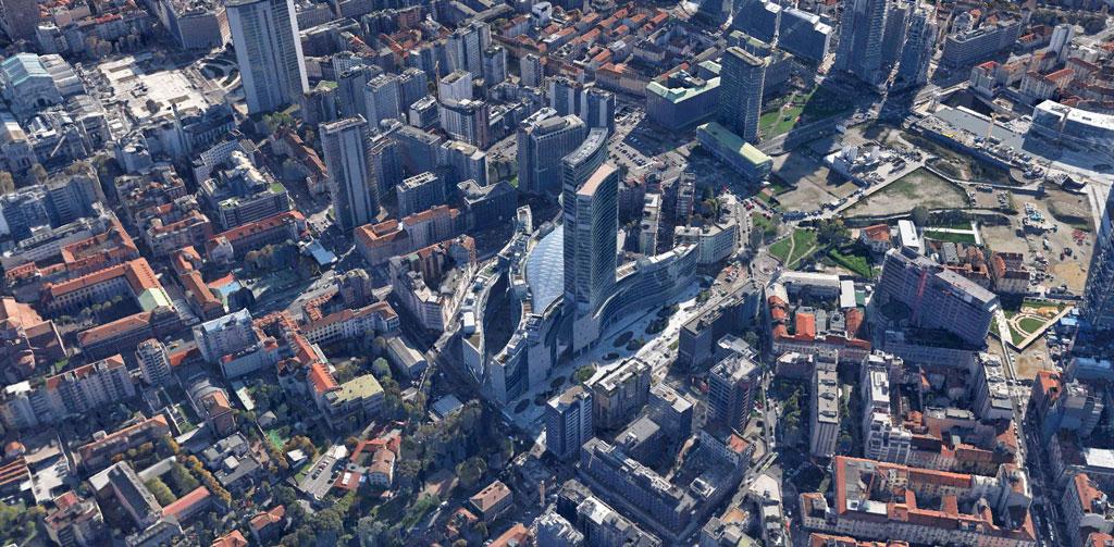 palazzo della regione Milano Google Earth Architecture | Buildings aerial views in hd