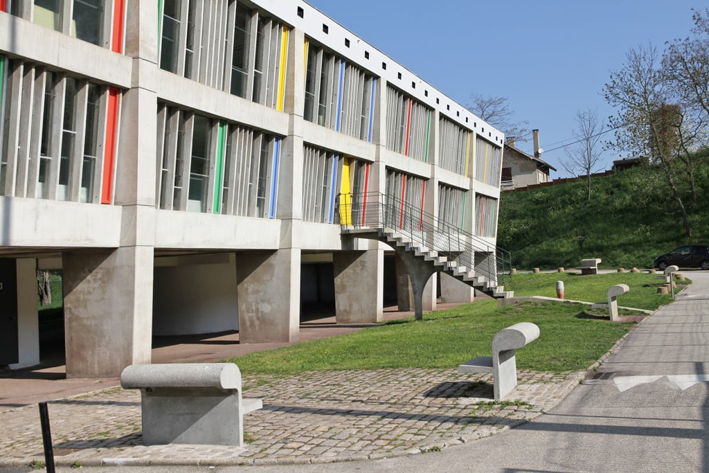 modern architecture Firminy Vert, the urban complex designed by Le Corbusier