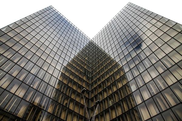 Dominique Perrault Architecture against white