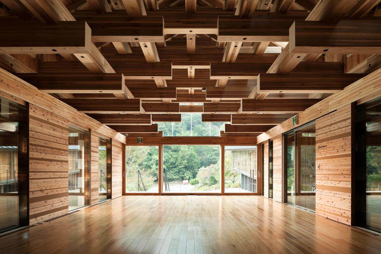 Yusuhara Wooden Bridge Museum [archiseeds] Yusuhara Bridge Museum by Kengo Kuma & Associates