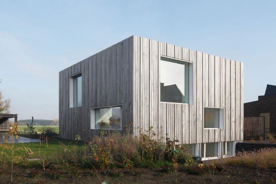 Zero energy house by blaf architecten a wooden cube Zero energy homes