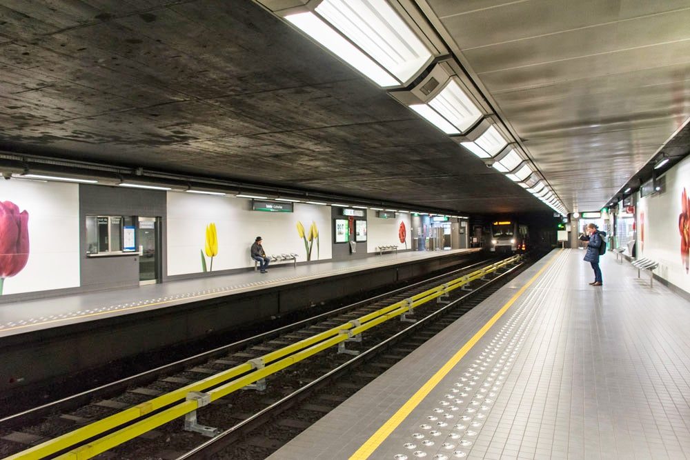 Sainte Catherine Metro Station in Brussels Belgium