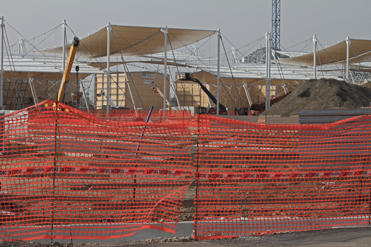 expo 2015 construction site
