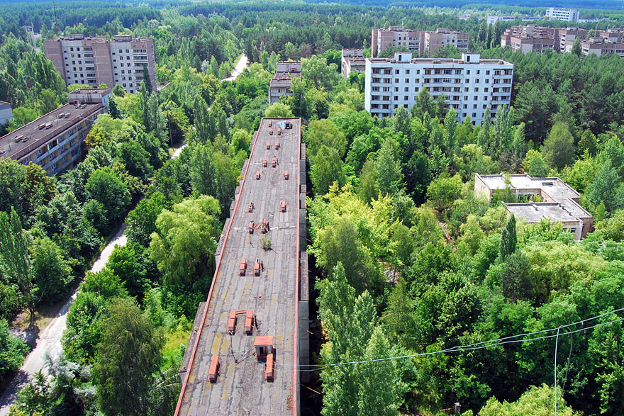 Ghost city in Ukraine
