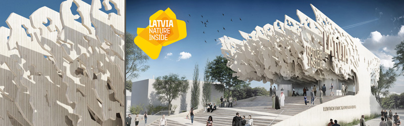 Latvia pavillion