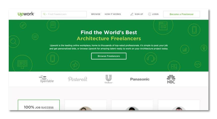 Upwork for freelance architects