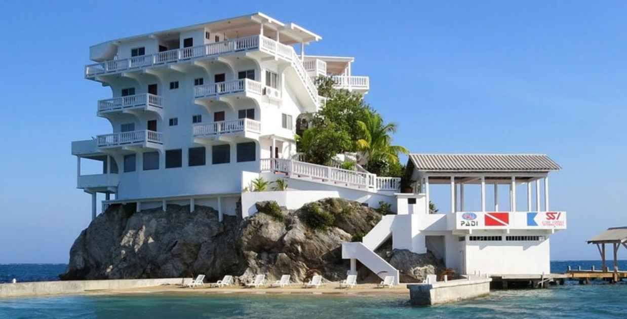 resort built on a rock