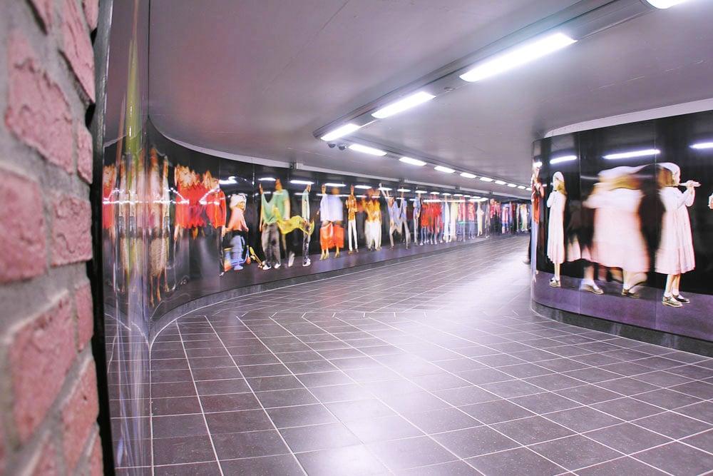 Demey Metro Station in Brussels Belgium