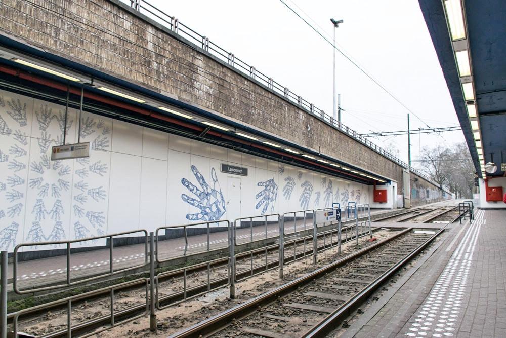 Lemonnier Metro Station in Brussels Belgium