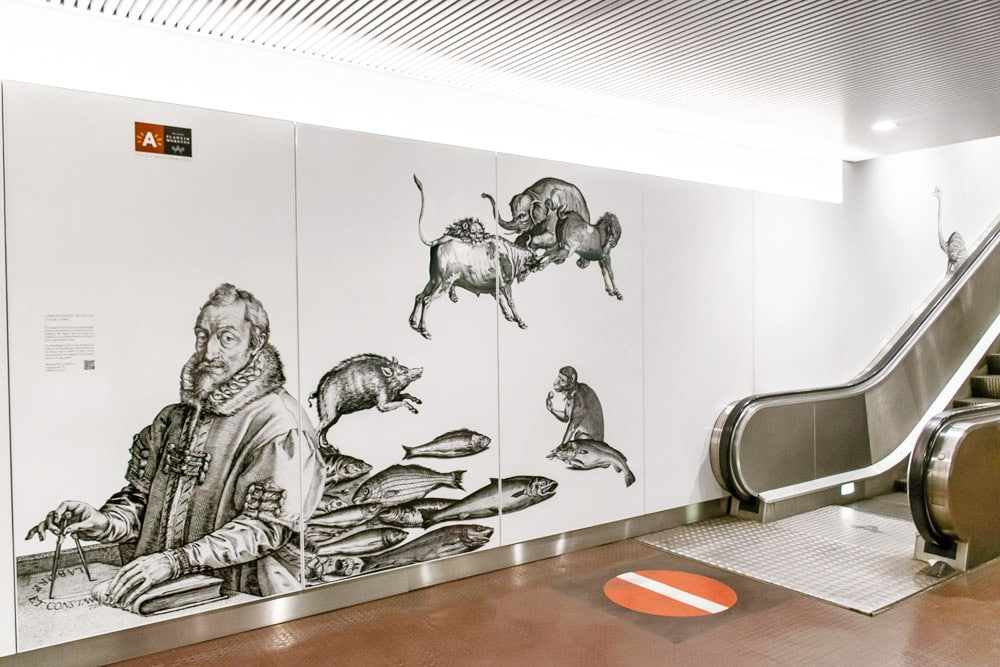 Plantin-Metro Station in Antwerp Belgium